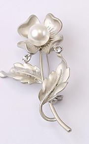 europæiske og amerikanske mode zircon perle broche serie 023