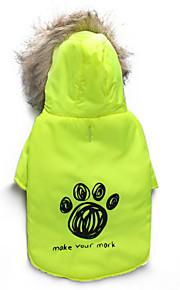 Gatos / Cães Casacos / Camisola com Capuz Verde Inverno Floral / Botânico Mantenha Quente, Dog Clothes / Dog Clothing-DroolingDog