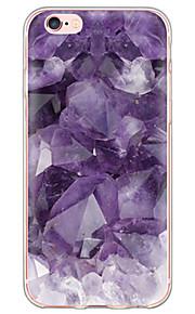 El modelo de mármol púrpura tpu suave de la contraportada translúcido ultrafino para el iPhone de Apple 6s 6 Plus SE / 5s / 5
