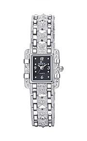 Mulheres Relógio Elegante / Relógio de Moda Quartz / Lega Banda Vintage / Casual Preta / Branco marca