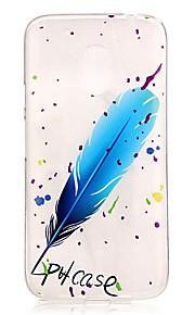 Capa traseira IMD / Transparentes / Em relevo Penas TPU Macio Case Capa Para Motorola Moto G4 Play