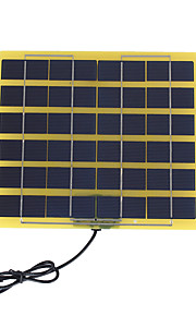 5W 12V Polycrystalline Solar Panel with DC Charge Cable for 12V Battery (SWB5012D)