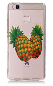 Capa traseira Ultra Fino / Transparentes / Estampa Fruta TPU Macio Case Capa Para Huawei Huawei P9 / Huawei P9 Lite / Huawei P8 Lite