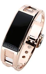 pulsera de reloj de pulsera bluetooth mujeres de la aleación de titanio inteligente para andriod y ios