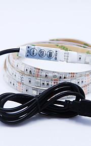 NO 2 M 60 5050 SMD RGB חסין למים / מתאים לרכבים W סרטי תאורת LED גמישים DC5 V