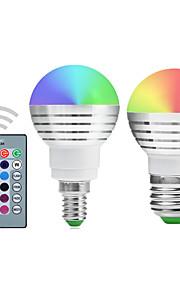 5W E14 / E26/E27 Круглые LED лампы A50 1 Integrate LED 300-450 lm RGB Регулируемая / На пульте управления / ДекоративнаяAC 85-265 / AC