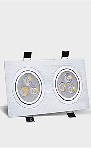 2X3W LED Panel Downlight Double LED Ceiling Recessed Lights Indoor Lighting Bulb(85-265V)
