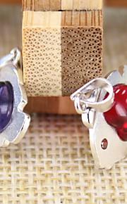 kvinders rød / lilla sterling sølv vedhæng 1pc