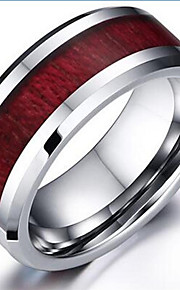 Band Rings,Jewelry Tungsten Steel Fashionable Daily / Casual Silver / Brown 1pc,7 / 8 / 9 / 10 / 11 / 12 Men