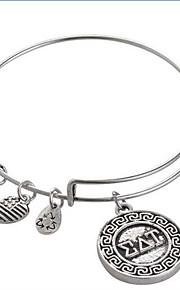 kvinders kærlighed brev mode sølv mønster sølv armbånd
