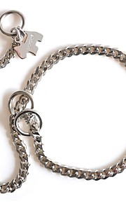 Dog Collar / Necklace / Slip Lead Adjustable/Retractable / Handmade Silver Stainless Steel