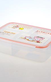 mat grade boks 4 rommet lunsj container for lagring