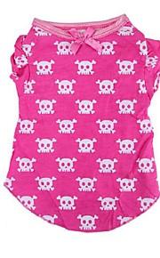 Perros Camiseta Rosado Invierno / Verano / Primavera/Otoño Clásico / Cráneos Boda / Navidad / San Valentín / Moda, Dog Clothes / Dog