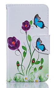 Cuerpo Completo billetera / Soporte de Tarjeta / A Prueba de Golpes / A Prueba de Polvo / con el soporte Mariposa Cuero Sintético Suave