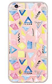 geometriskt tecknade mönster TPU ultratunna genomskinligt mjukt bakstycket för den apple iphonen 6s 6 plus se / 5s / 5