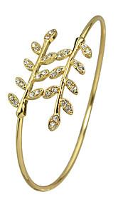 Bangles 1pc,Moderigtig / Justérbar Flower Shape / Leaf Shape Gylden Legering Smykker Gaver