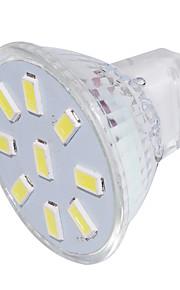 2 GU4(MR11) LED-spotpærer MR11 9 SMD 5733 150 lm Varm hvit / Kjølig hvit Dekorativ 9-30 V 1 stk.