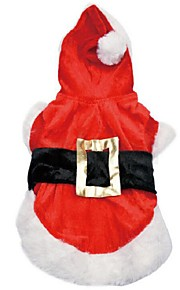 Classic Red Christmas Style Pet Coat