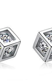 Øreringe Geometric Shape,Smykker 1 par Sexy / Moderigtig / Yndig / Personlighed Sølvbelagt SølvBryllup / Party / Daglig / Afslappet /