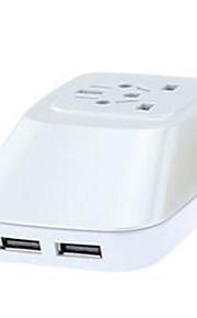 MW Cabeada Others Multi-function plug converter Dual USB converter plug Branco / Azul / Dourada