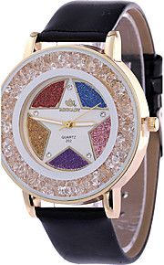 Mulheres Relógio de Moda / Relógio de Pulso Quartz / Couro Banda Legal / CasualPreta / Branco / Azul / Vermelho / Marrom / Verde / Rosa /