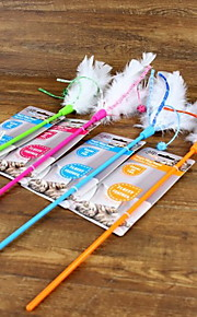 Cat Toy Pet Toys Teaser / Feather Toy Cat Plastic Random Color