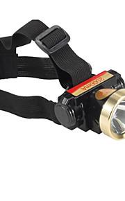 Pandelamper LED 2 Tilstand 240 Lumens Vanntett / Genopladelig LED Lithium Batteri Dagligdags Brug / Jagt-Andre,Sort Aluminiums Legering