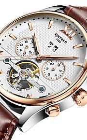 Da uomo Orologio elegante / Orologio scheletro / Orologio da polso / orologio meccanico Carica automaticaCalendario / Cronografo /
