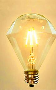 4 E26/E27 LED-glödlampor G95 4 SMD 5730 800 lm Gul Dekorativ AC 220-240 V 1 st
