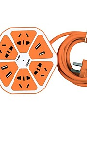 JISHUN Con Cable Others Multifunctional Socket Charger Verde / Azul / Amarillo / Naranja