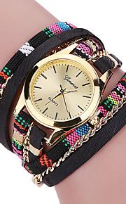 Mulheres Relógio de Moda / Bracele Relógio Quartz / Tecido Banda Legal / Casual Preta / Azul / Vermelho / Cinza / Rosa / Roxa marca