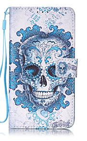 Ganzkörper Brieftasche / Kartenhalter / mit Ständer / Flip / Muster Totenkopf PU - Leder Hart Fall-Abdeckung für LG LG K7