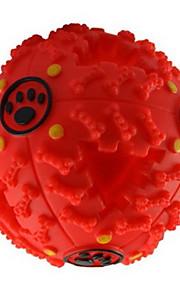 Brinquedo Para Gato Brinquedo Para Cachorro Brinquedos para Animais Bola rangido Alimentador Automático Vermelho Preto Azul Borracha