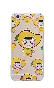 Back Cover Pattern Mango Girl  Small Eyes Acrylic Hard Case For iPhone 6s Plus/6 Plus / iPhone 6s/6 / iPhone SE/5s/5