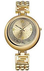 לנשים שעון יד קווארץ / סגסוגת להקה מזל זהב מותג