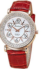 Mulheres Relógio de Moda / Relógio de Pulso Quartz / Couro Banda Legal / Casual Preta / Branco / Azul / Vermelho / Laranja / Marrom / Rosa