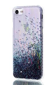 Blue Rain filo di materiale modello disegno cassa del telefono TPU trasparente con strass per iPhone 7 6S 6 Plus