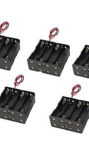 5pcs 5 8 gesp met 9V accubak accubak rijtjes 8AA 12v acht AA-batterij case