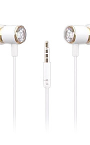 ESONG Q99 In-Ear Earphone Diamond Heavy bass Surround sound Metal headphone with Microphone for iPhone