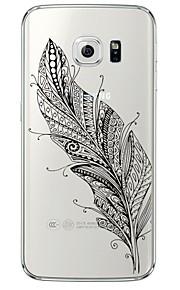 Per retro Ultrasottile / Traslucido Piume TPU Morbido Copertura di caso per Samsung GalaxyS7 edge / S7 / S6 edge plus / S6 edge / S6 / S5