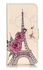 Ganzkörper Brieftasche / Flip Eiffelturm PU - Leder Hart Fall-Abdeckung für Apple iPhone 7 plus / iPhone 7