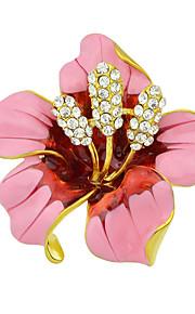 mode smukke emalje rhinestone store blomsterknopper brocher for kvinder
