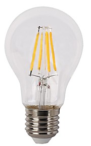 4W E26/E27 LED-gloeilampen A60 (A19) 4 COB 400 lm Warm wit Dimbaar V 1 stuks