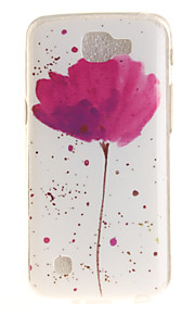 Per retro IMD / A fantasia Fiore decorativo TPU Morbido Copertura di caso per LG LG K10 / LG K8 / LG K7 / LG K4