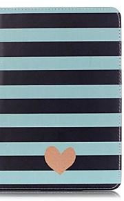 Ganzkörper Brieftasche / Kartenhalter Stripes / Ripples PU - Leder Hart Fall-Abdeckung für Apple iPad Mini 4 / iPad Mini 3/2/1
