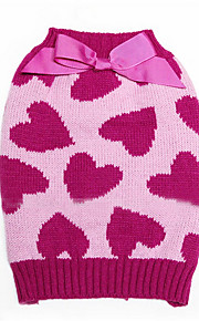 Dog Clothes/Jumpsuit Pink Dog Clothes Winter / Spring/Fall Hearts Cute / Keep Warm