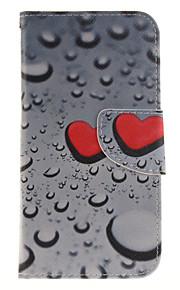 Cuerpo Completo billetera / Soporte de Tarjeta / con el soporte / Dar la vuelta / Diseño Heart Cuero Sintético Duro Cubierta del caso para