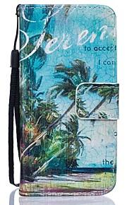 Corpo Completo carteira / Entrada de Cartão / com suporte Árvore Couro Ecológico Duro Case Capa Para HuaweiHuawei P9 / Huawei P9 Lite /