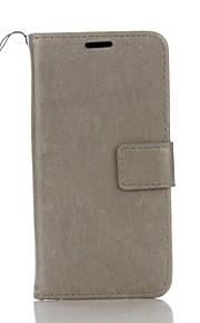 Full Body Wallet / Korttipaikka / telineellä Yhtenäinen väri Tekonahka Kova Tapauksessa kattaa Samsung Galaxy Grand Prime / Core Prime