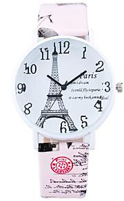 Mulheres Relógio de Moda / Relógio de Pulso Quartz / Couro Banda Legal / Casual Preta / Branco / Azul / Marrom / Rose marca